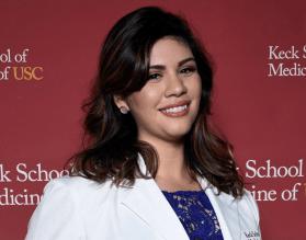 Female, Latina, Doctor.